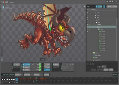 2D ANIMATION SOFTWARE MAKES — SPINE