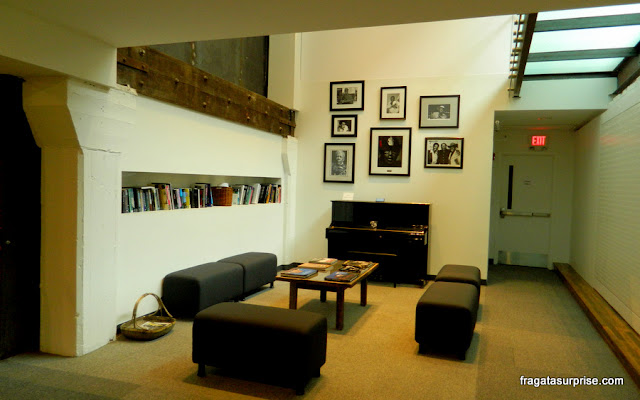 Sala de leitura do museu do Hall da Fama do Blues