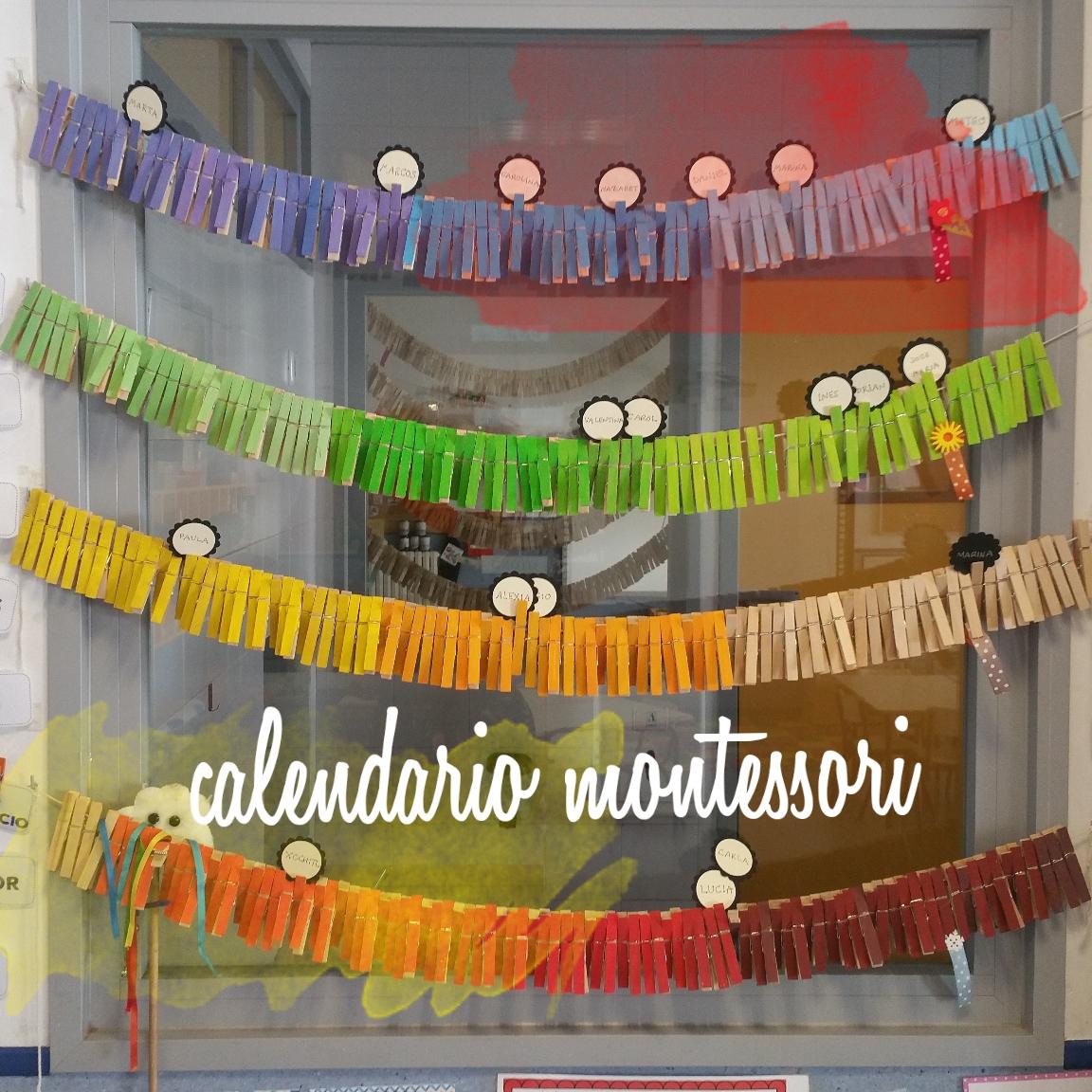Calendario Montessori.Calendario Montessori La Tiza De Carol