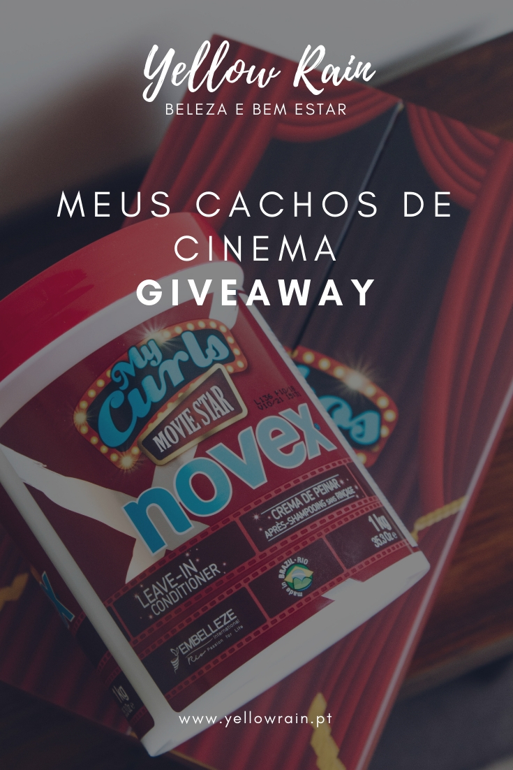Meus Cachos De Cinema Giveaway - Yellow Rain