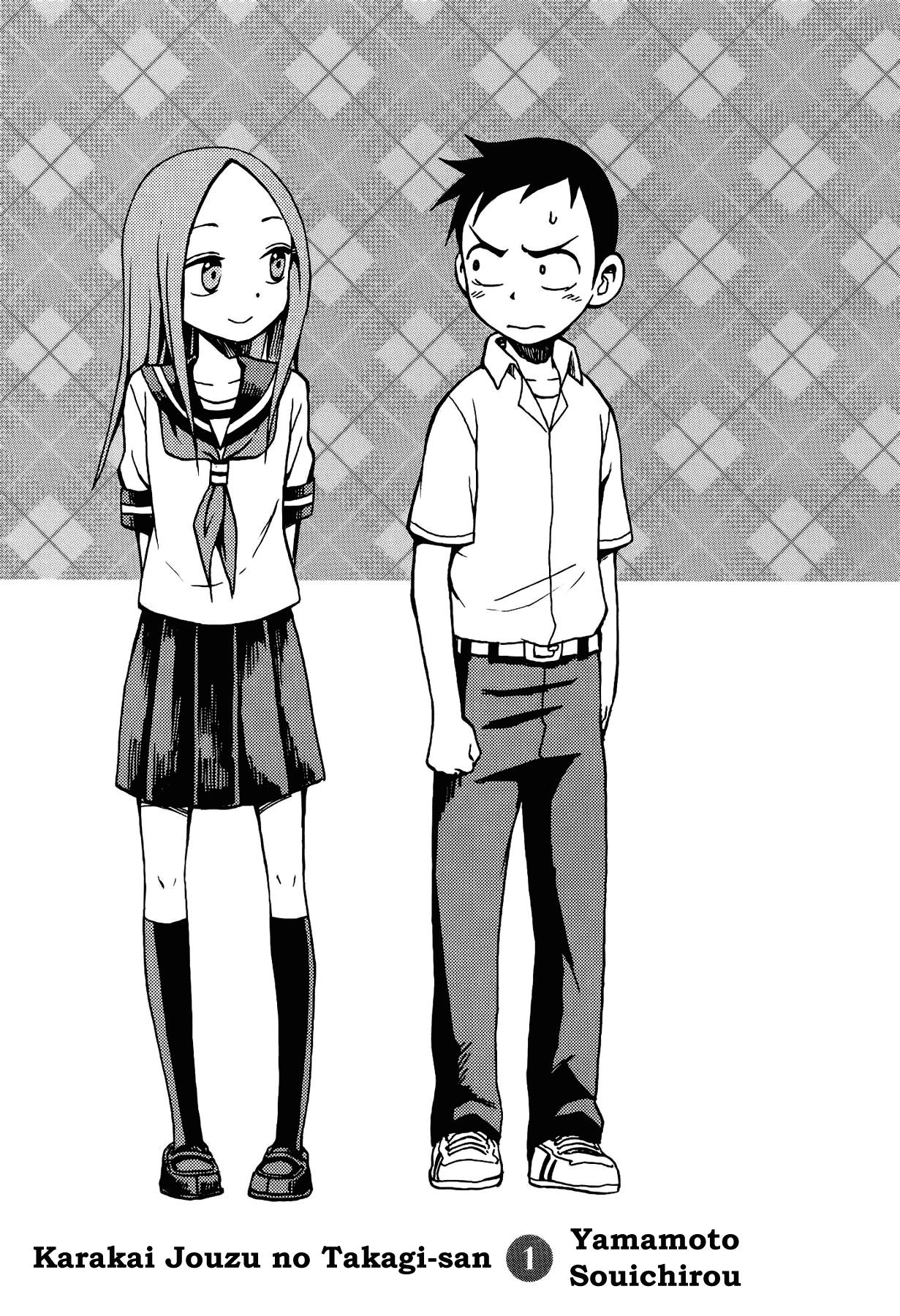 Karakai Jouzu no Takagi-san - Chapter 1