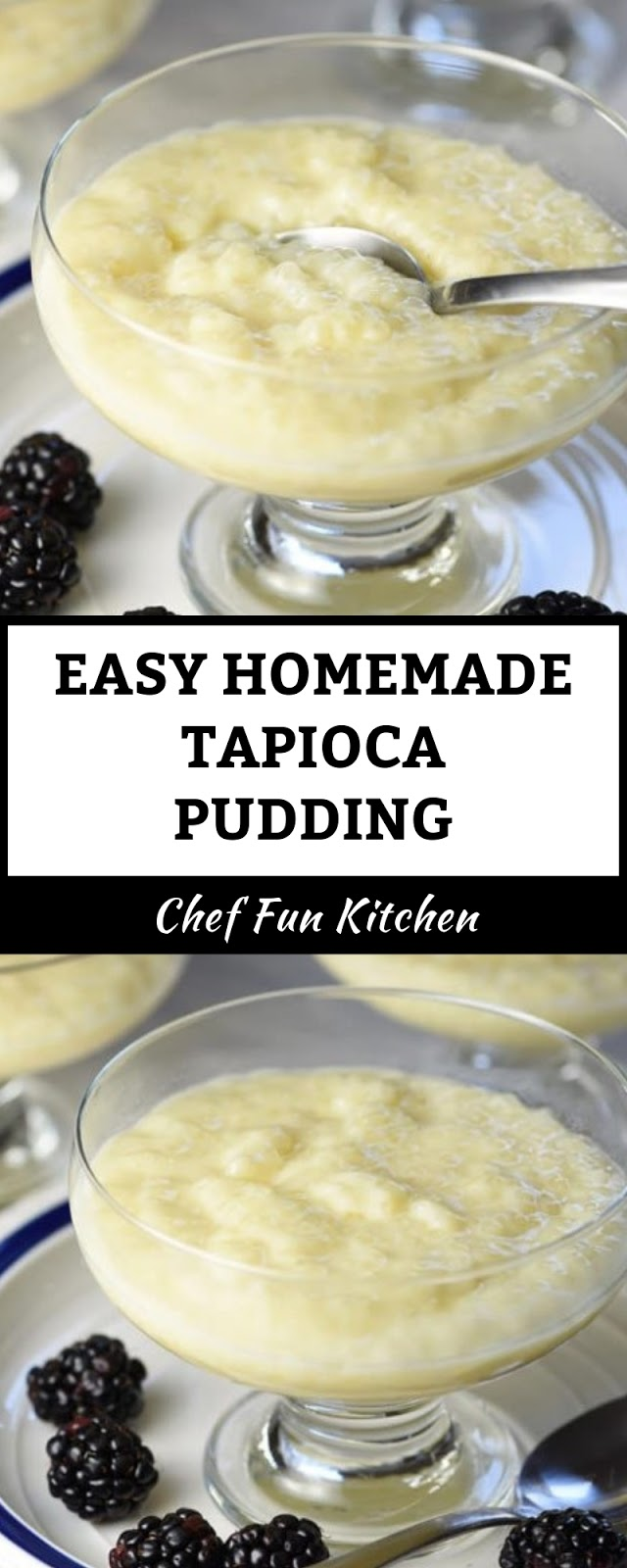 EASY HOMEMADE TAPIOCA PUDDING