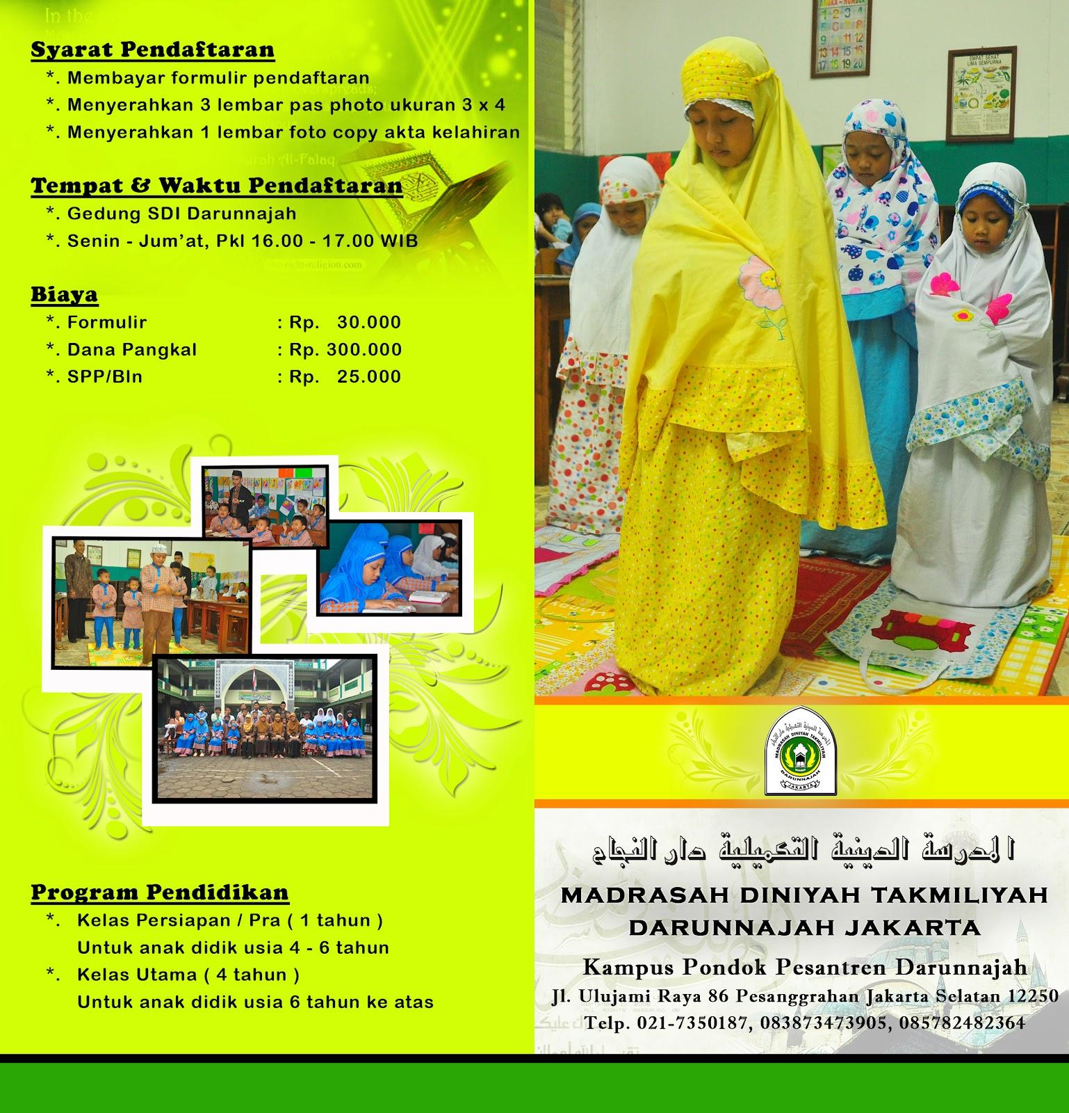 Brosur Madrasah Diniyah Takmiliyah Awwaliyah Darunnajah