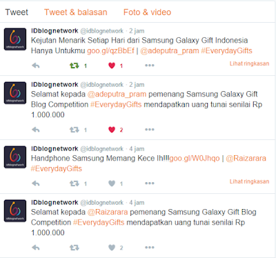 Pengumuman Blog Competition Samsung Galaxy Gift Indonesia 2016