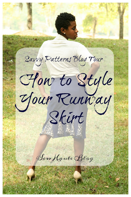 I'm going to show you how to easily get multiple outfits from just one wardrobe staple. As unique as my fabric combination was I was able to style the Savvy Patterns Runway skirt 3 ways.