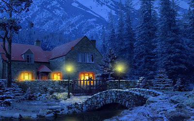 Snow Village 3d Live Wallpaper And Screensaver Beautiful Wallpapers 3d Snowy Cottage Animated Wallpaper