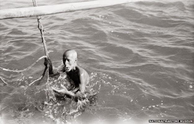 Quando eu não podia mais conter a respiração, pérola mergulhador puxou a corda e foi elevada à superfície.