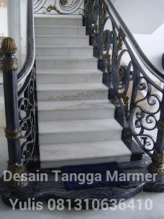 contoh lantai tangga marmer import