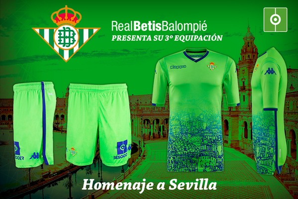 replicas camisetas futbol 2019  camiseta Real Betis verde 2018-2019 ... e846e50a0006b