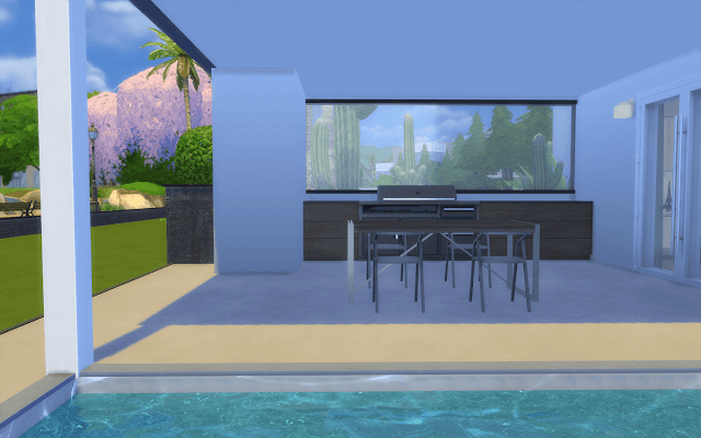 villa moderne Sims 4