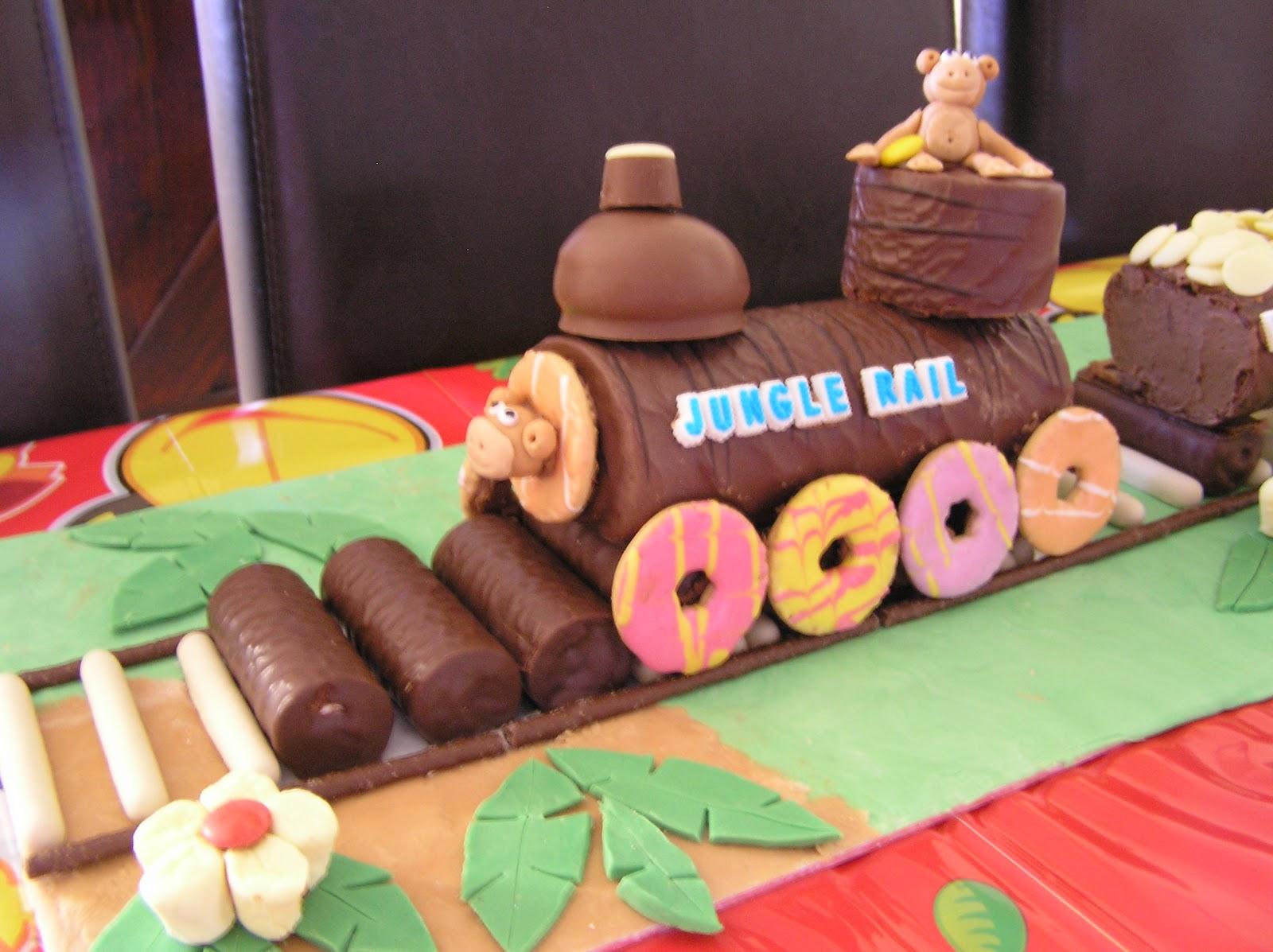 No Bake Train Cake