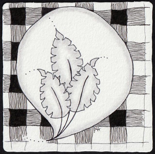 zentangle art from Alice Hendon, The Creator's Leaf