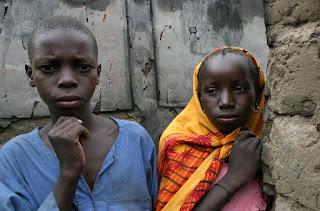 Children in Birao, Birao is located in Central African Republic
