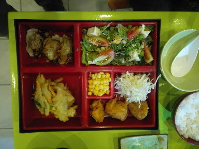 lunch box at Akita Japanese Restaurant