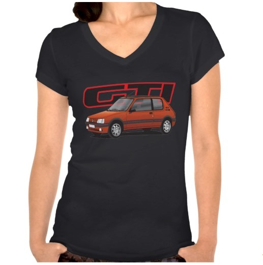 red peugeot 205 gti t-shirt