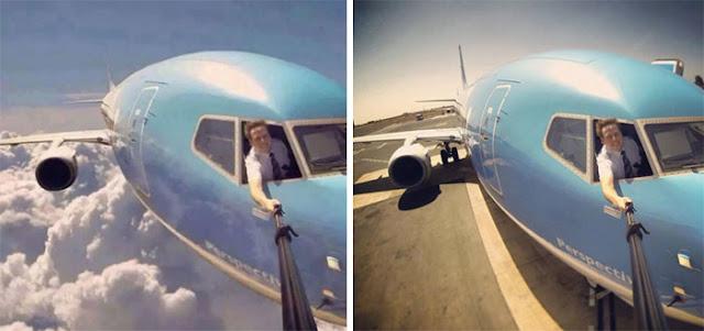 Pilot Selfie Berbahaya