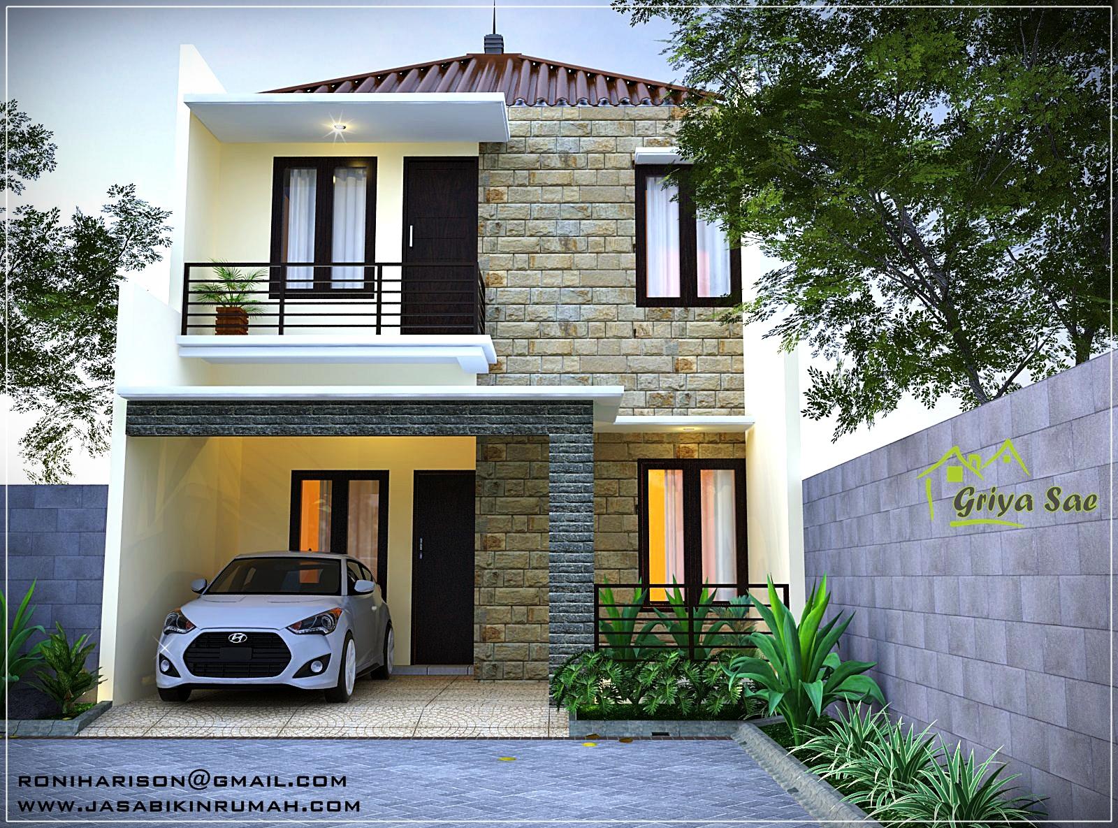 Rumah 2 Lantai Plus Taman Hidro Ponik Jasa Bikin Rumah