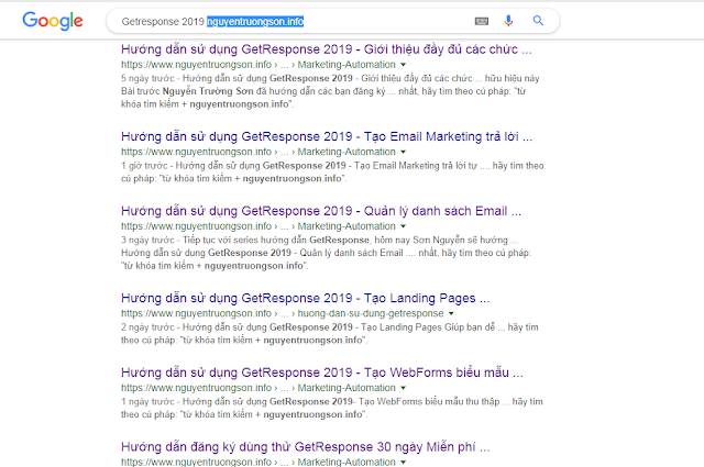 GetResponse 2019 nguyentruongson.info