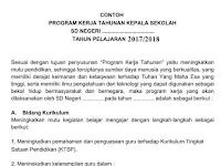 Contoh Program Kerja Tahunan Kepala Sekolah SD,SMP,SMA Terbaru 2017/2018