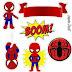 Spiderman Chibi oppers para Tartas, Tortas, Pasteles, Bizcochos o Cakes para Imprimir Gratis.