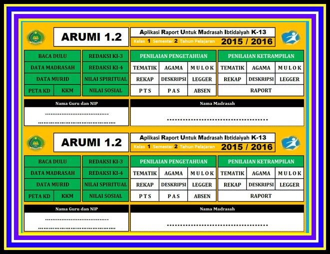 Download Aplikasi Raport Kurikulum 2013 Sd Madrasah Smp