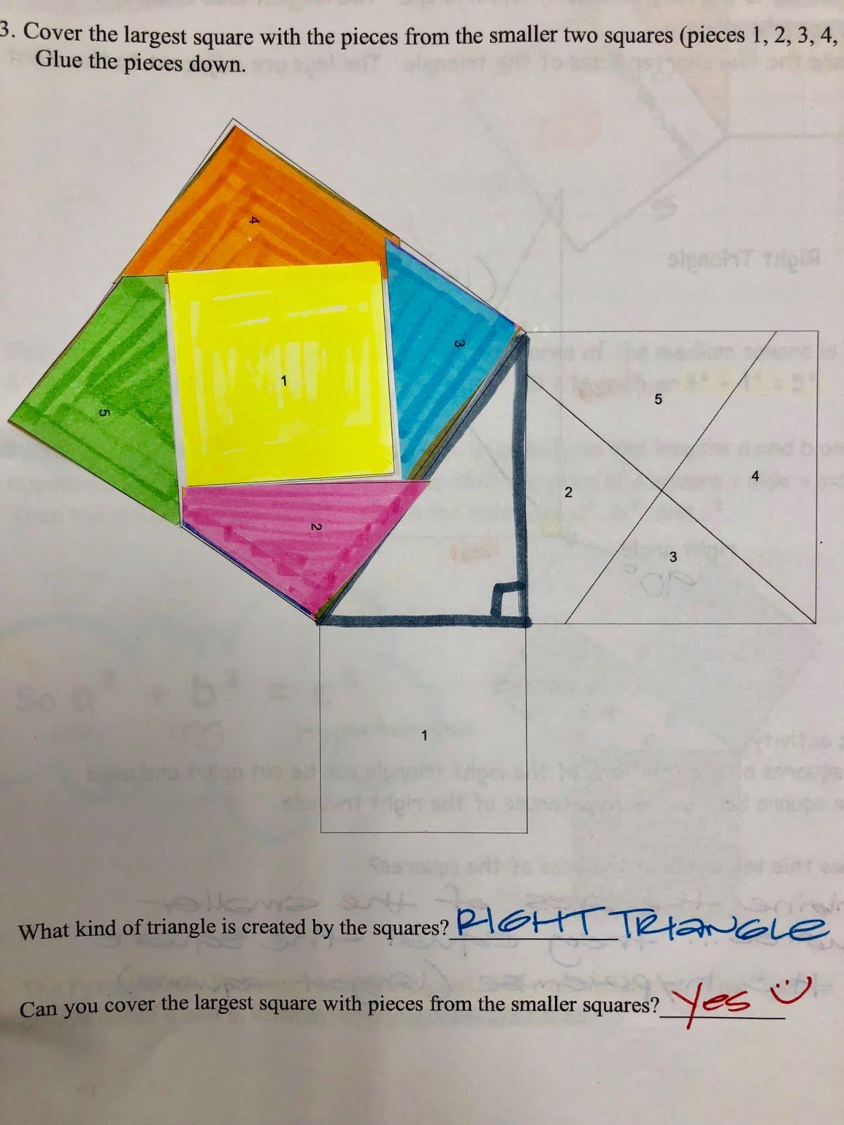 Mrs Shaw S Site Math 8 Pythagorean Theorem Notes Amp Hw
