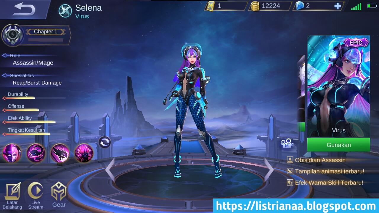 Tutorial Mendapatkan Skin Epic Selena Virus Mobile Legends, Gratis ? 2