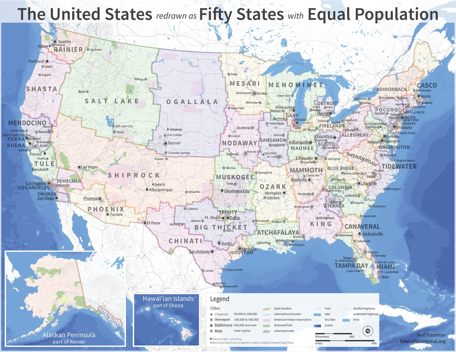 electoral college reform fifty states with equal population by neil freeman fake is the new real