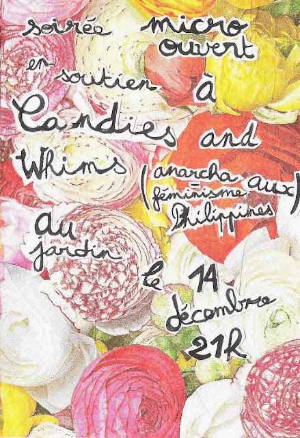 SOLI PARTY/GIG FOR CANDIES AND WHIMS FROM FOLKS IN FRANCE! MARK YOUR CALENDARS!