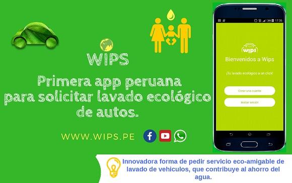 WIPS - APP DE LAVADO DE AUTOS ECOLÓGICO