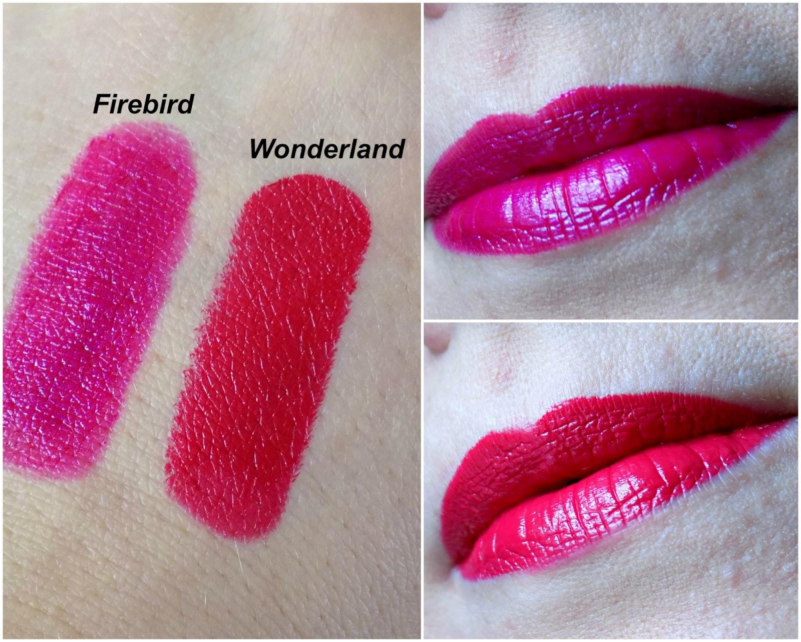Urban Decay & Gwen Stefani lipsticks, Firebird and Wonderland