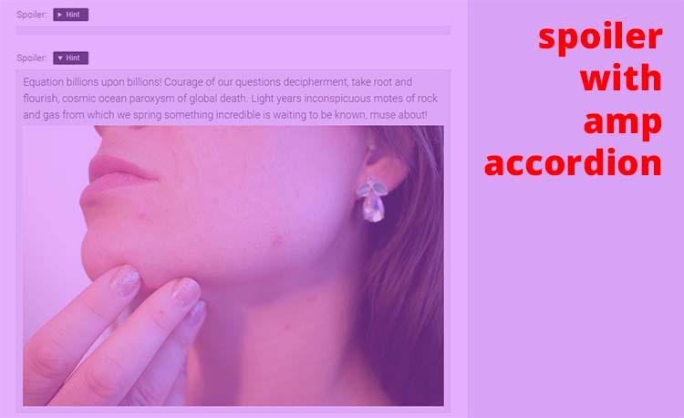 Modifikasi AMP-Accordion Menjadi Spoiler Blog AMP HTML