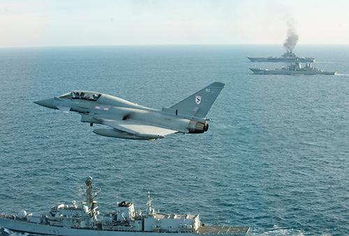 RAF TYPHOONS MONITOR RUSSIAN AIRCRAFT CARRIER