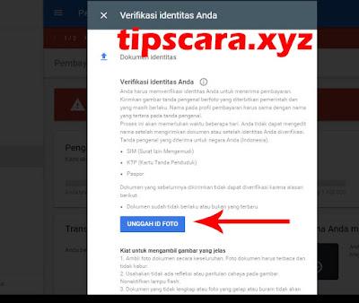 unggah id foto - Cara Verifikasi Identitas Akun Google Adsense 2018