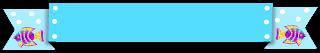 Faixa ribbon azul peixe - Criação Blog PNG-Free