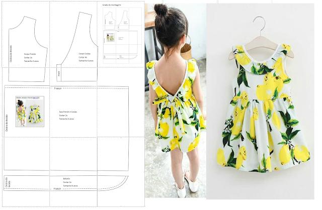 Blog Atelier Fernanda Guimaraes Molde Vestido Infantil