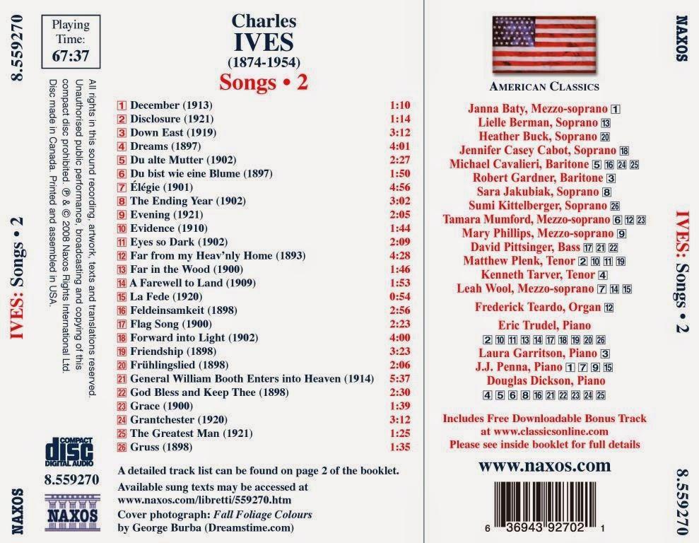 charles ives songs