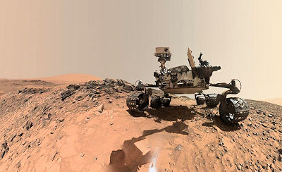 NASA's Curiosity Mars Rover Drill Site