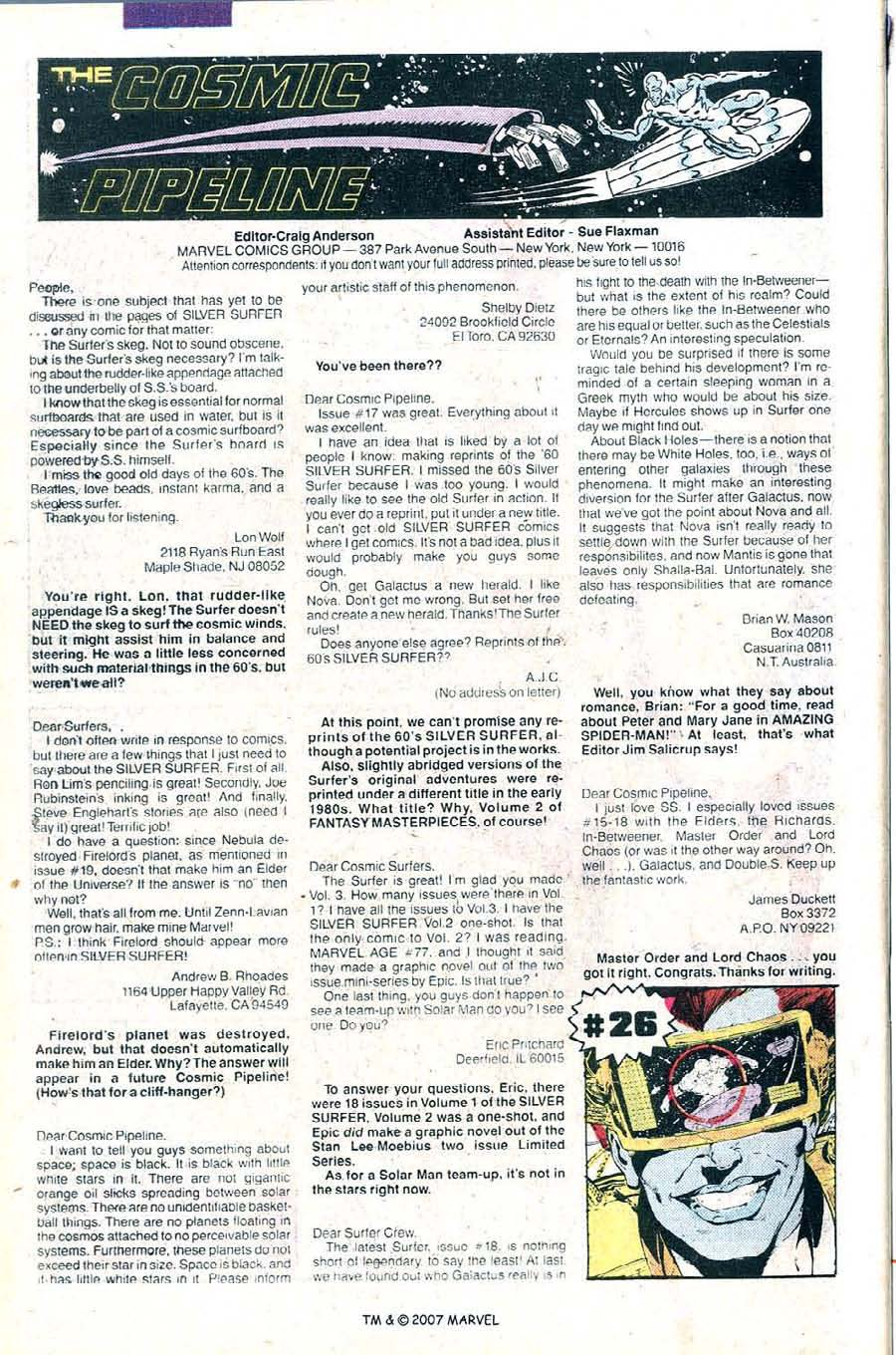 Read online Silver Surfer (1987) comic -  Issue #25 - 50