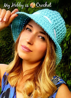 """Let the Sun Shine!"" Sun Hat - Free Crochet Pattern on myhobbyiscrochet.com"