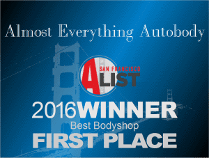 2016 San Francisco Bay Area A-List First Place Best Auto Body Shop
