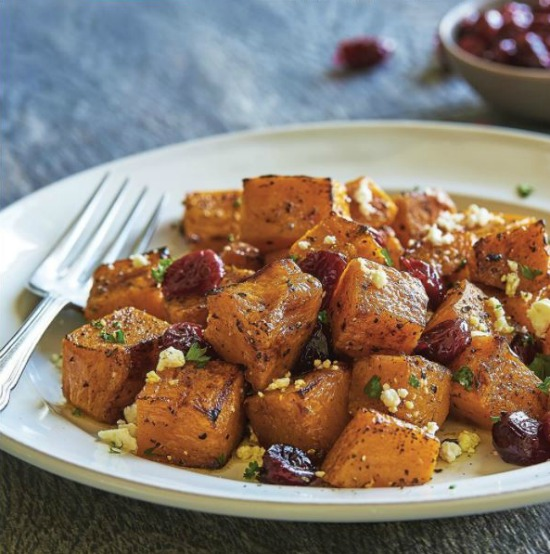 FOGO de CHÃO Philadelphia Blog Promotion Roasted Butternut Squash and Cranberry Salad:
