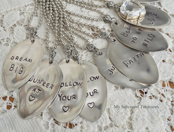 metal stamped spoon necklaces