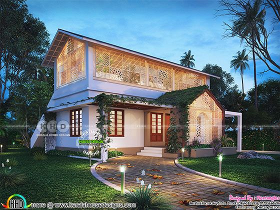Single storied house with truss roofing (Renovation)