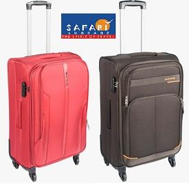 Safari Strolly at Jabong – Upto 50% + Extra 25% Discount+ Extra 20% Freecharge Cashback