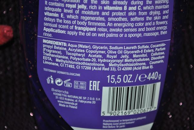 skład olejku do mycia żel pod prysznic nawilżający