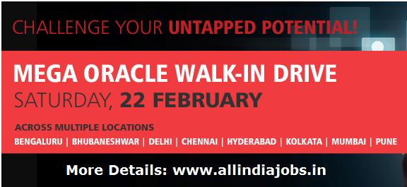 Tcs Mega Oracle Walkin Drive On 22nd February 2014 Across