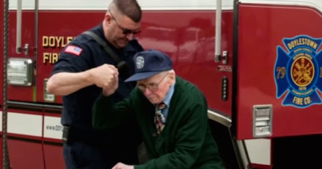 97-Year-old Fulfills Lifelong Dream, Becomes Firefighter For a Day