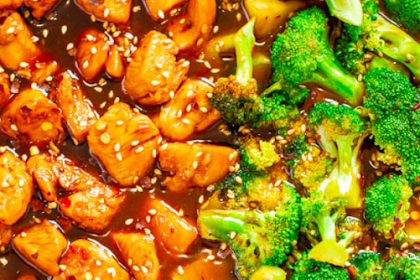 Skinny 15-Minute Sesame Chicken and Broccoli