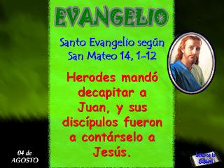 Resultado de imagen para Mateo 14,1-12